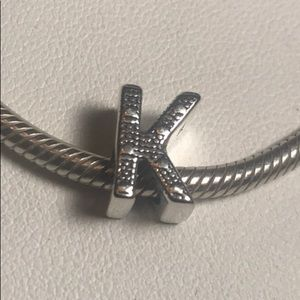 Jewelry - S925 Sterling Silver Initial K charm